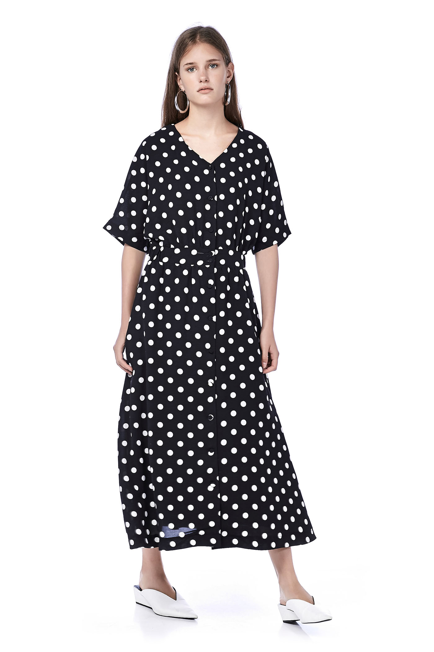 Afina Dotted Maxi Dress