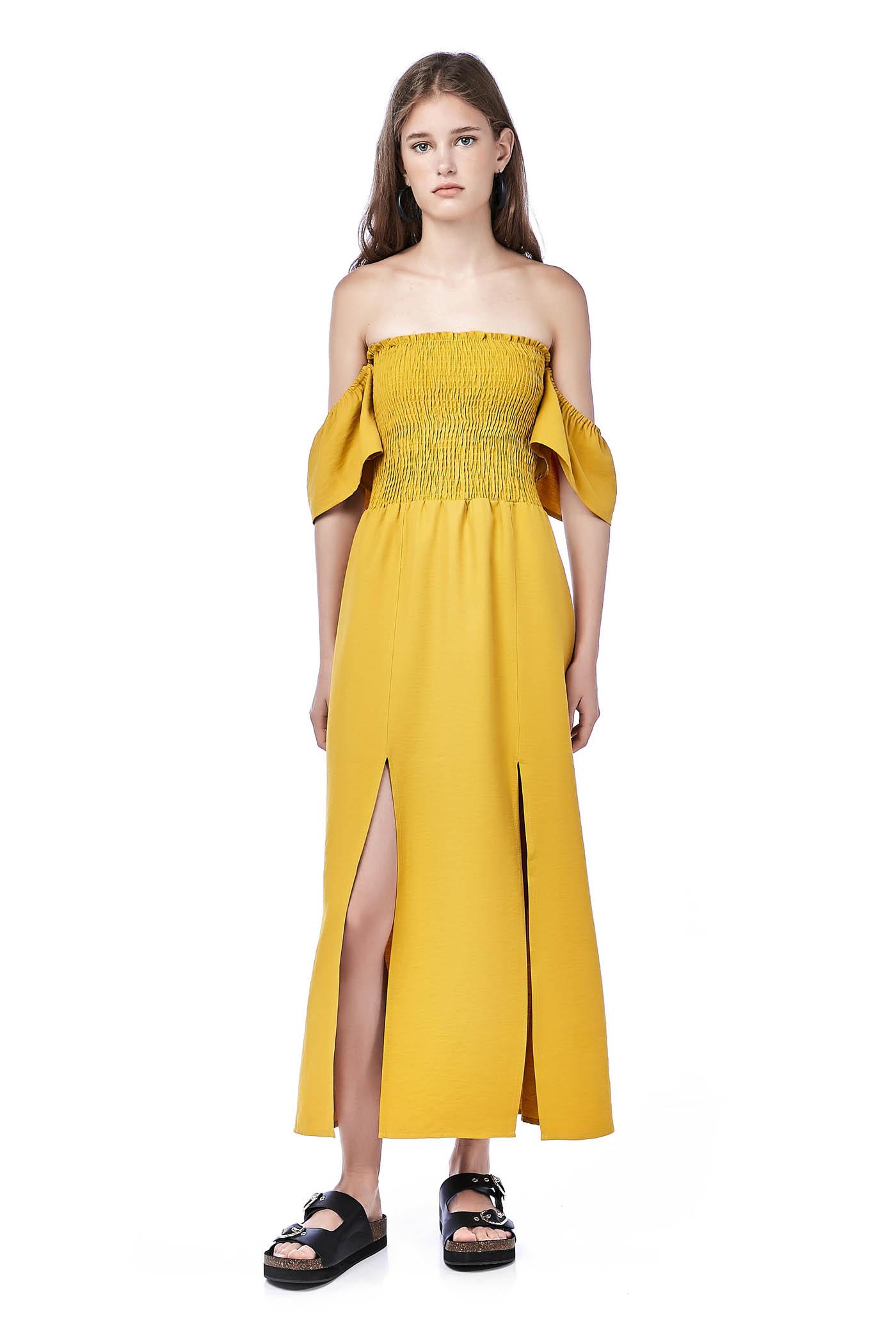 Marlyn Smock Bandeau Dress