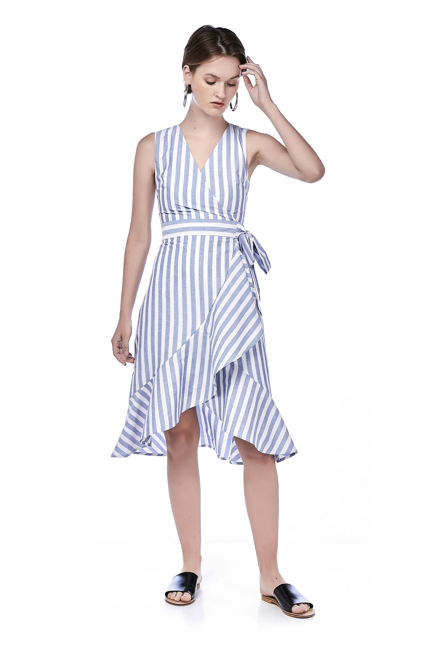 Edwina Overlap MIdi Dress