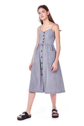 Alise Button-Through Midi Dress