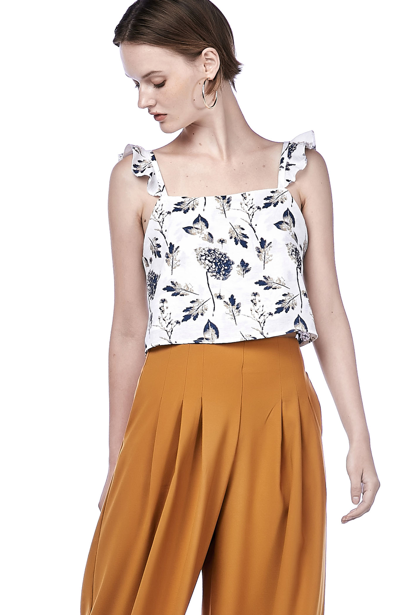 Tasheena Floral Crop Top