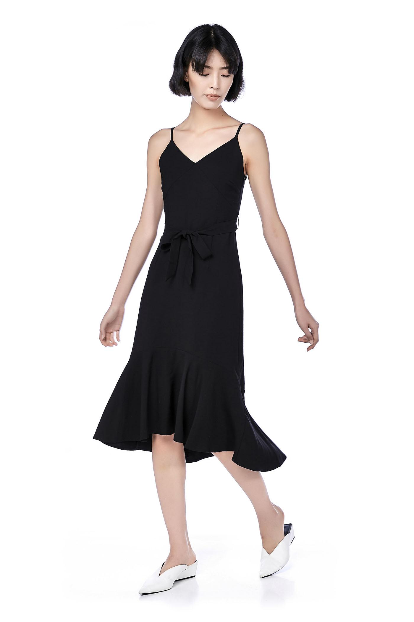 Kristel Wide-Hem Midi Dress