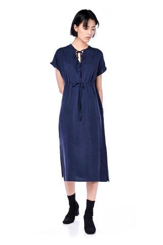 Oswald Drawstring Maxi Dress