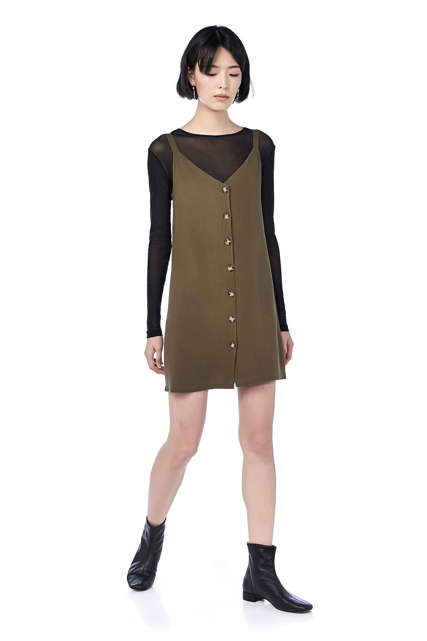 Keva Button-Down Dress