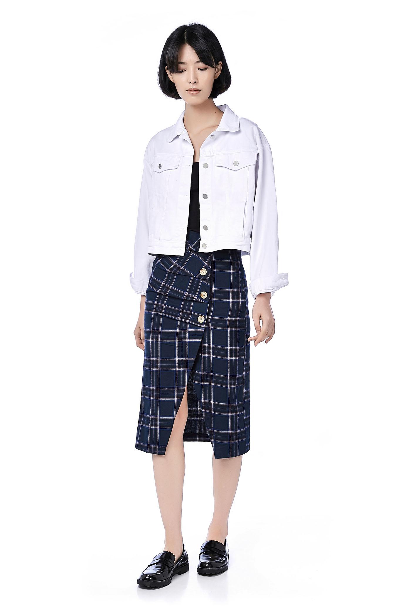 Lori Asymmetrical Midi Skirt