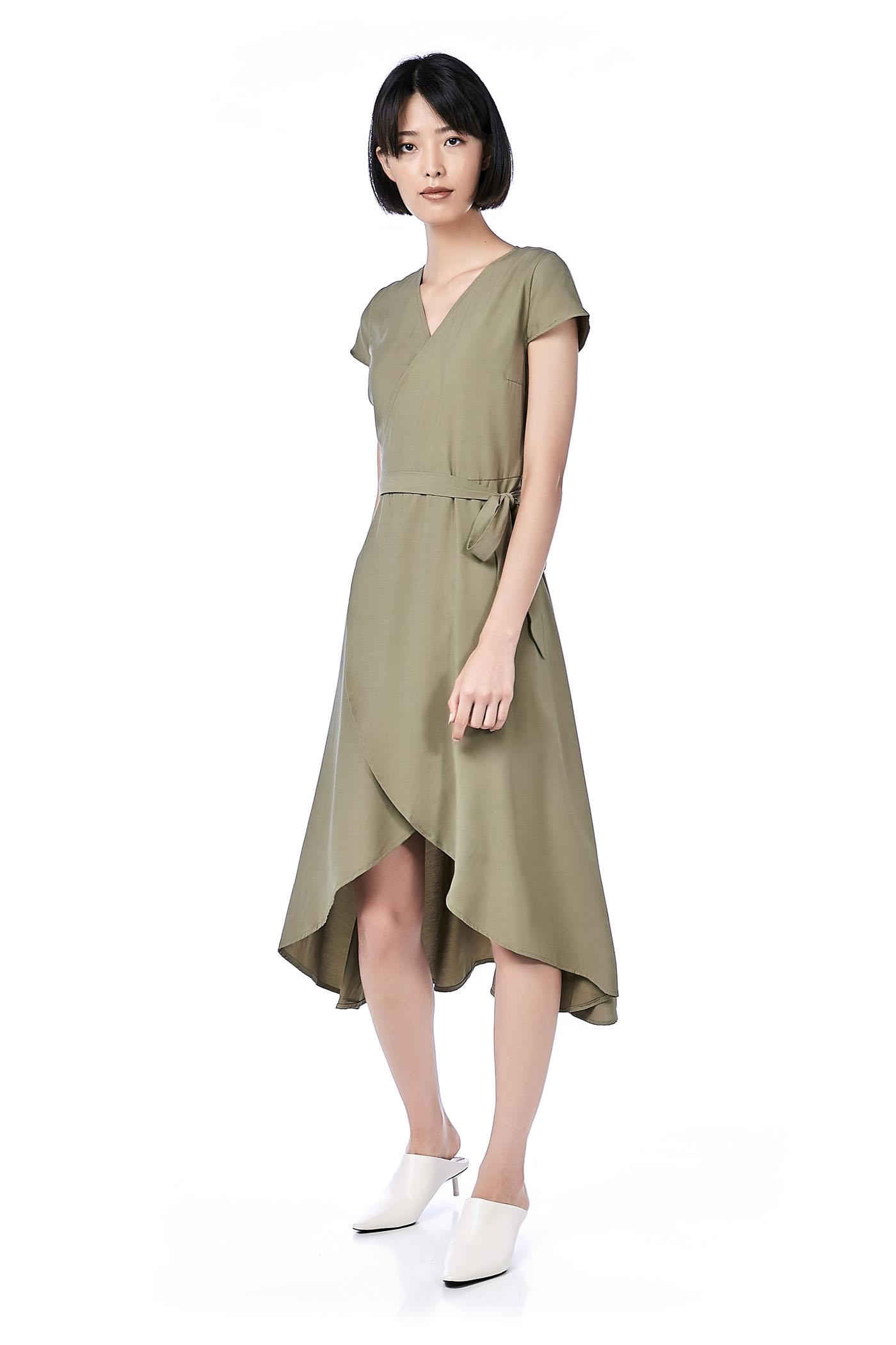 Brena Ruffle Wrap Maxi Dress
