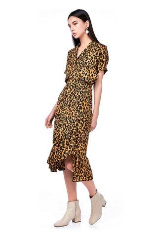 Lorra Ruffle-Hem Wrap Skirt