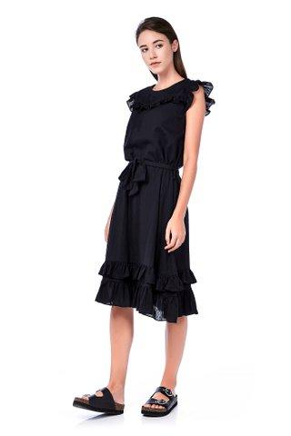 Morlinda Ruffle Midi Dress