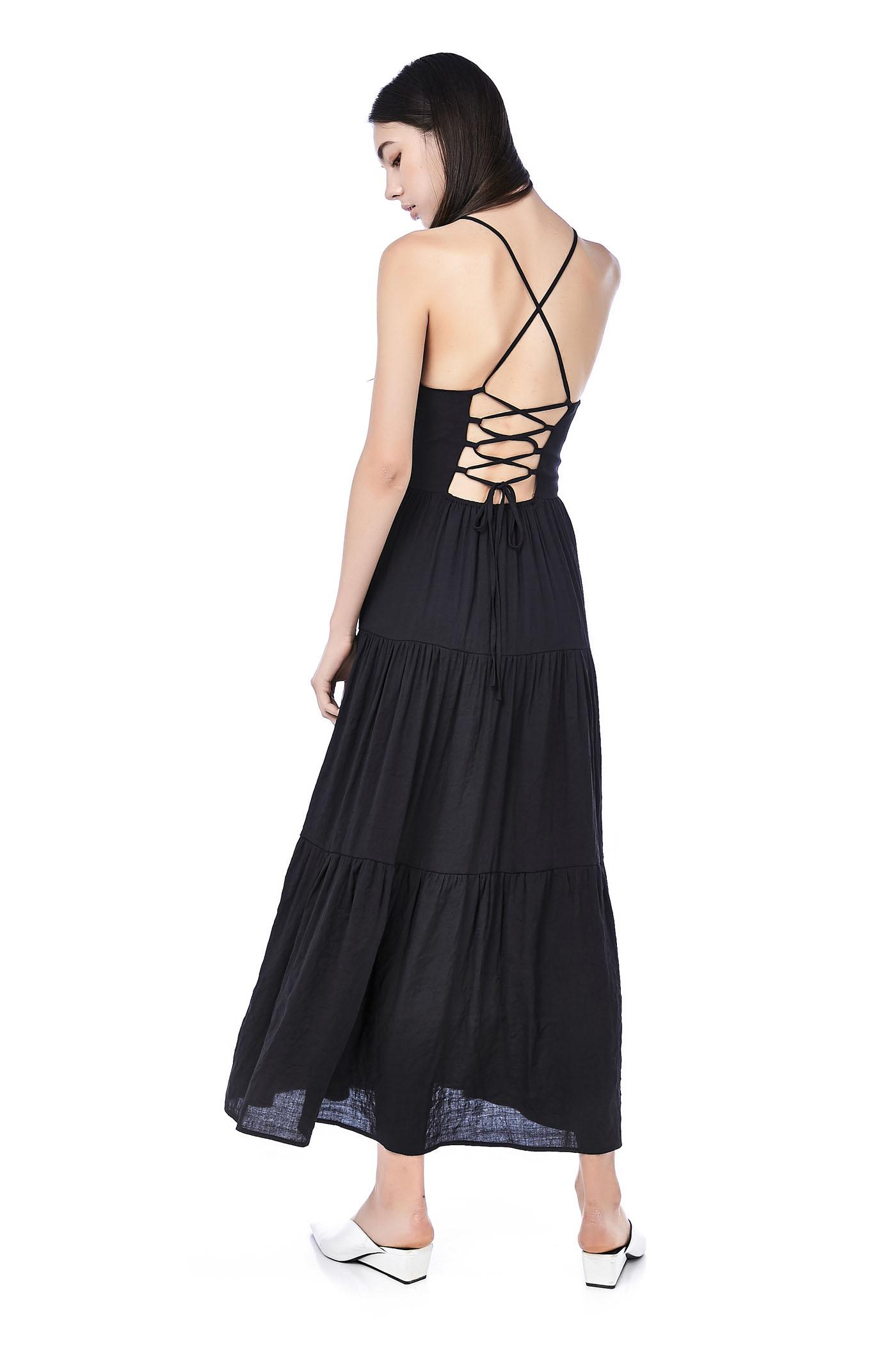 Gigi Lace-Up Maxi Dress