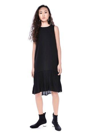 Beatrix Plisse Hem Dress