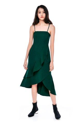 Leonie Ruffle Midi Dress