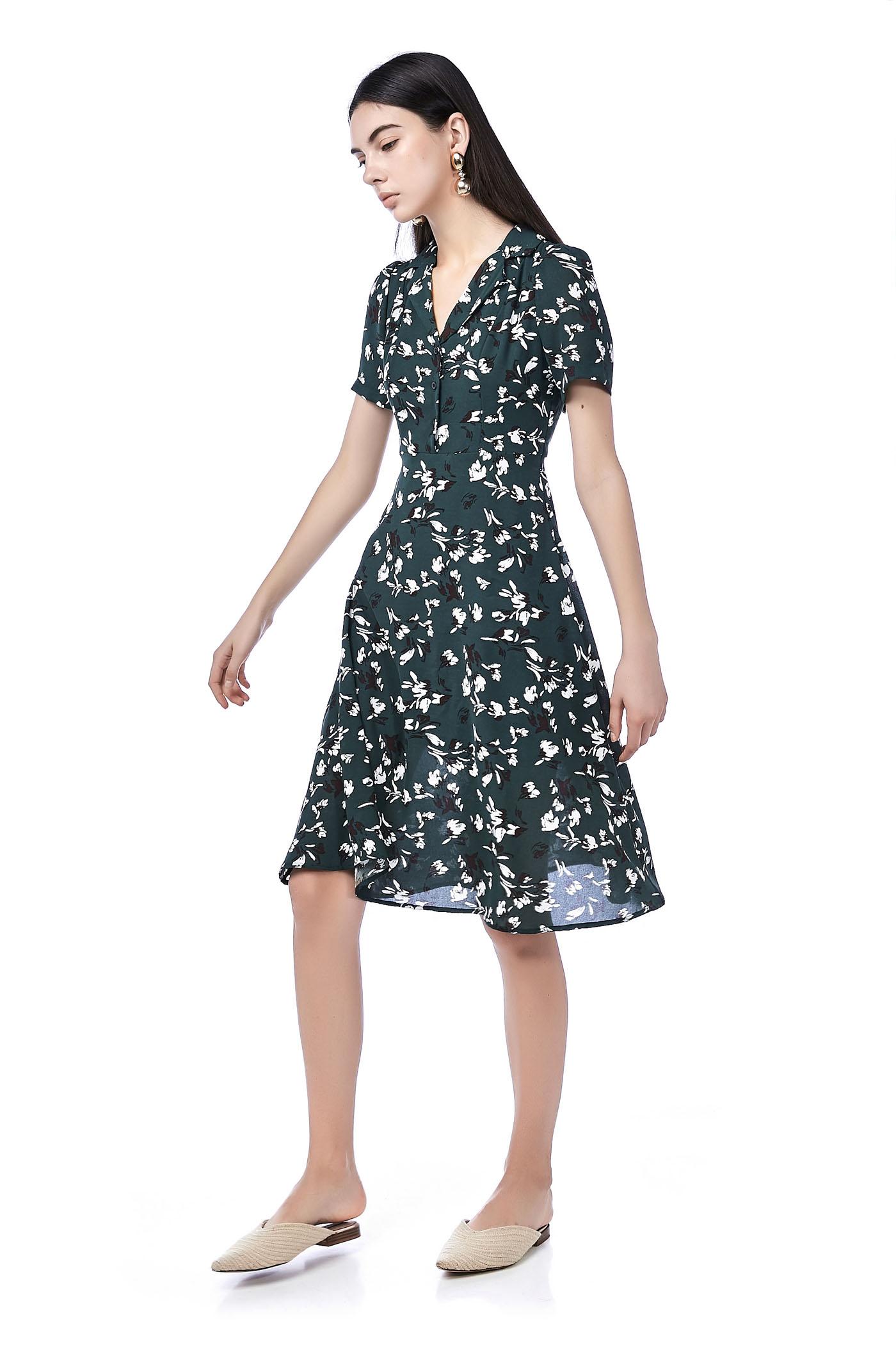 Ceni V-Neck Midi Dress