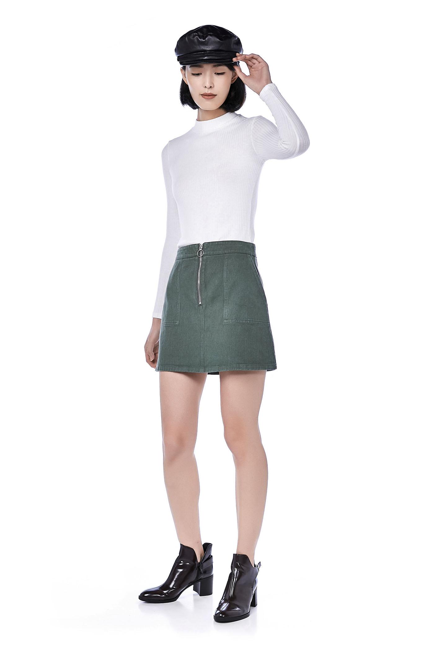 Winnie Zip Up Mini Skirt