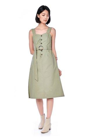 Adela Belted Midi Dress