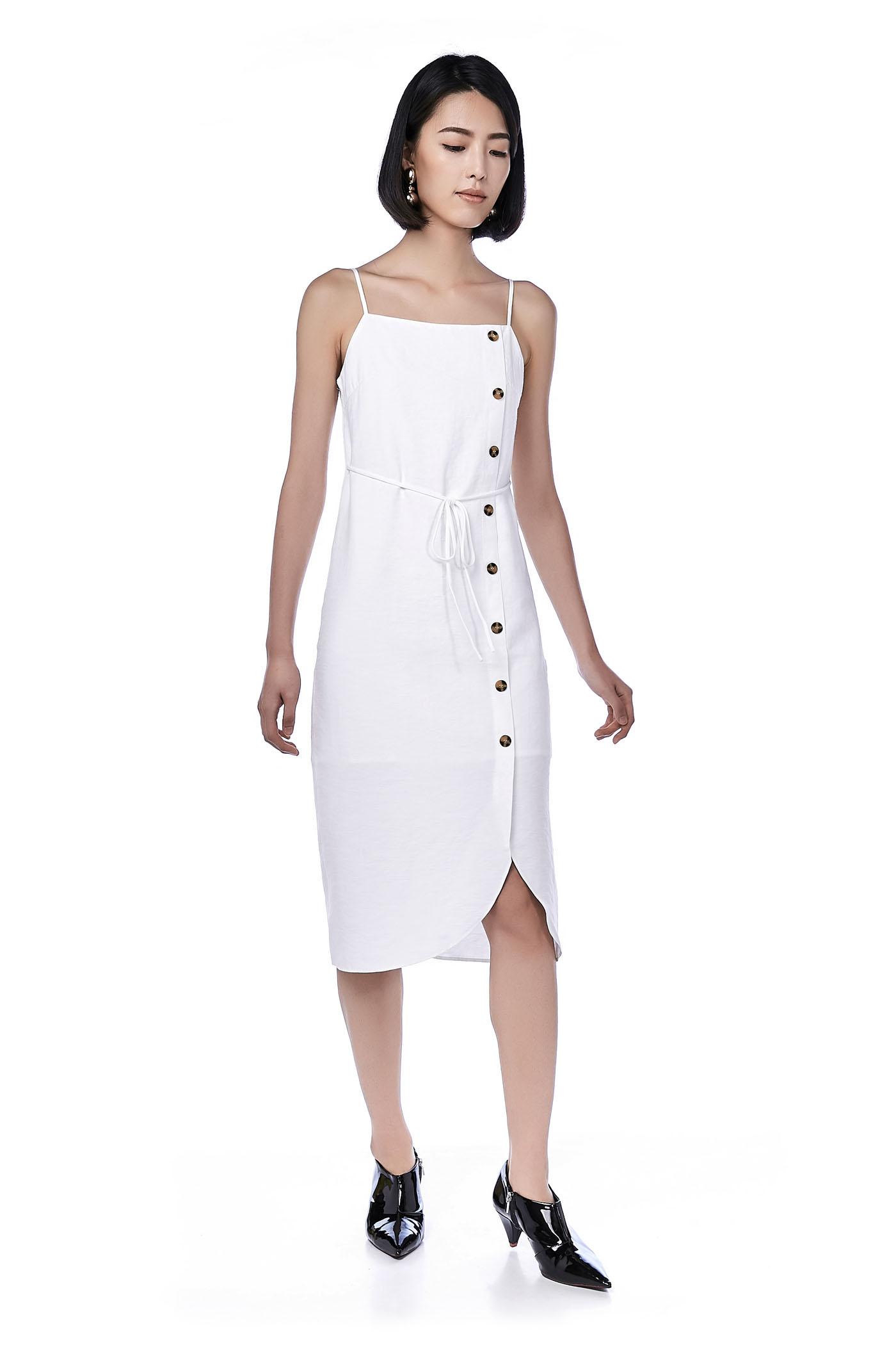 Estelle Bib Midi Dress
