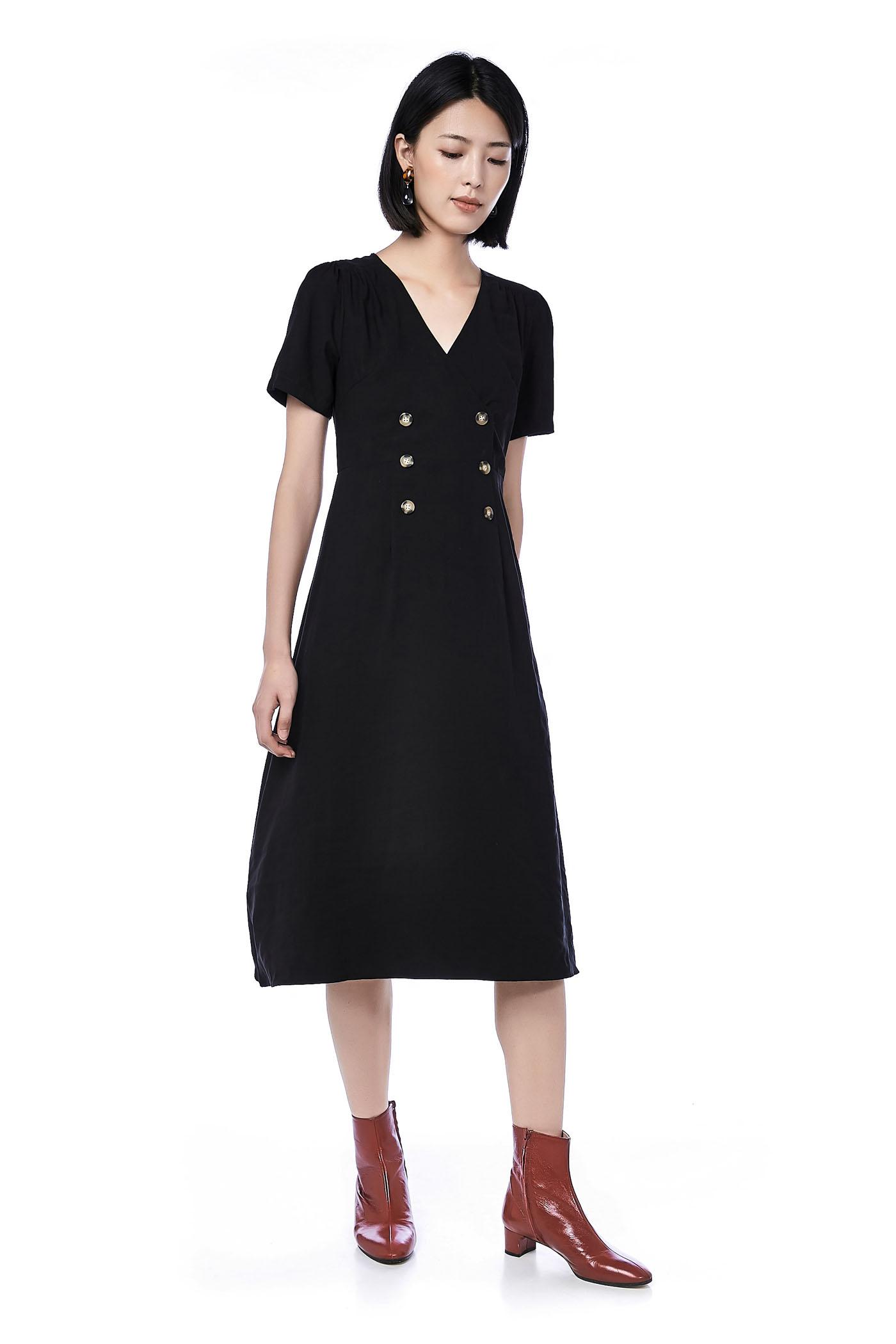 Roi Double-Breasted Midi Dress