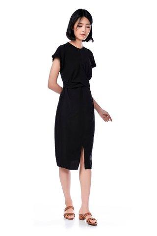 Paris Strap-Tie Midi Dress
