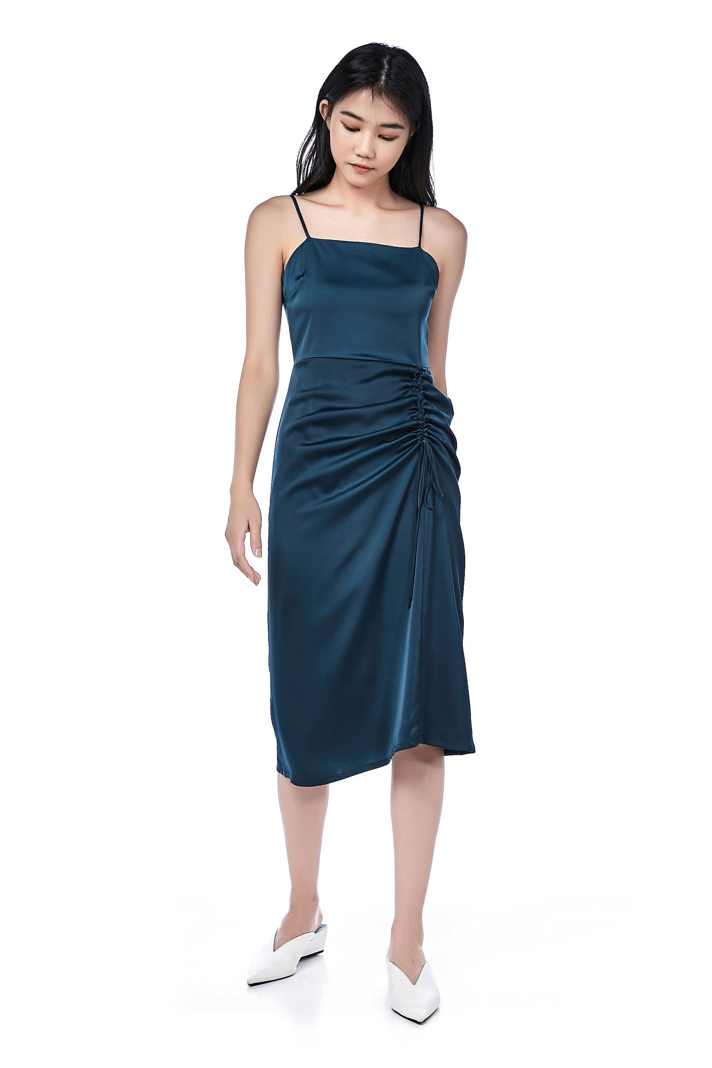 Audorah Side-Ruched Dress