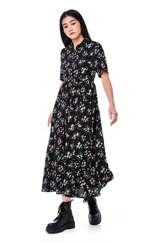 Daire Collared Maxi Dress