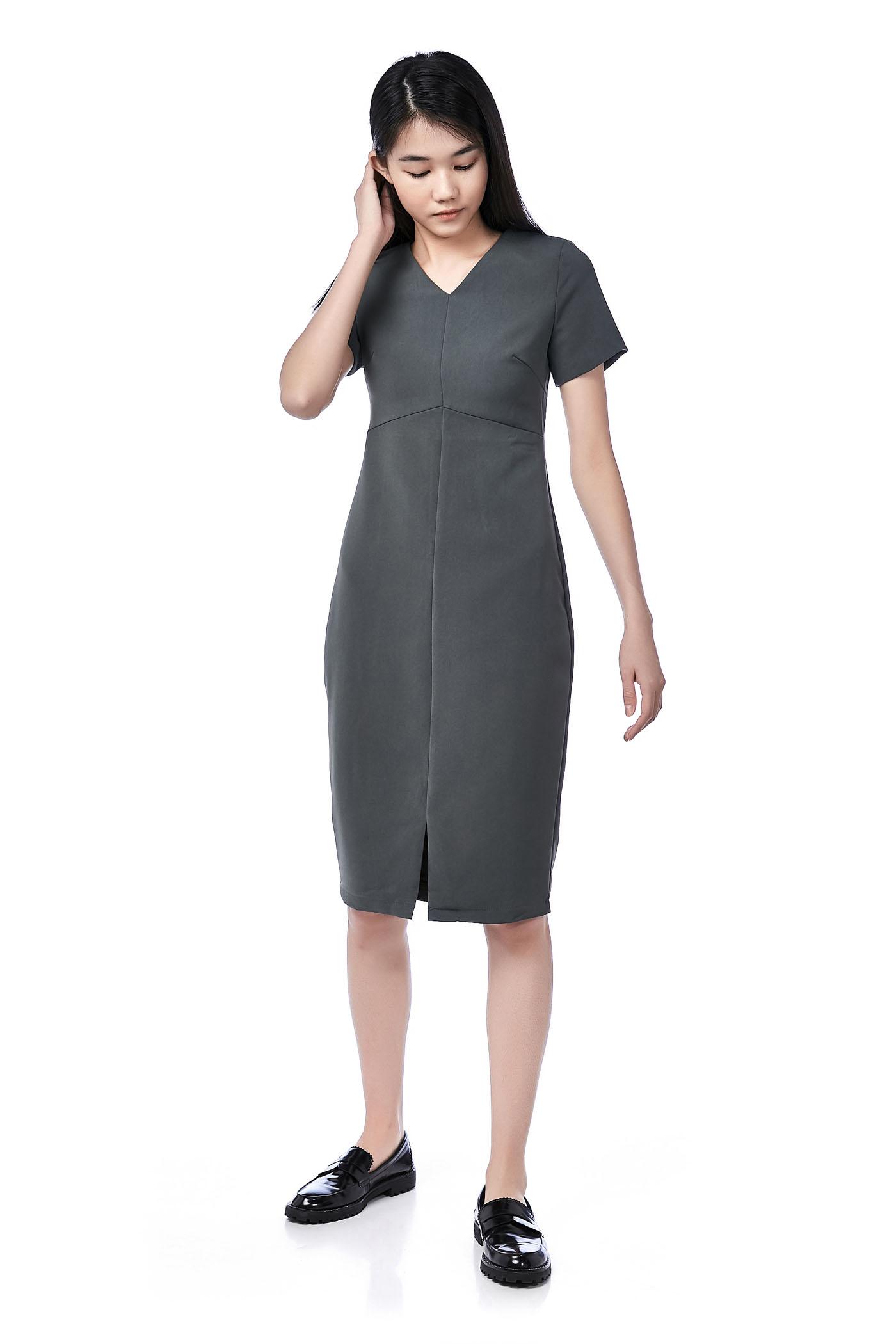Adhyra Centre-Slit Midi Dress