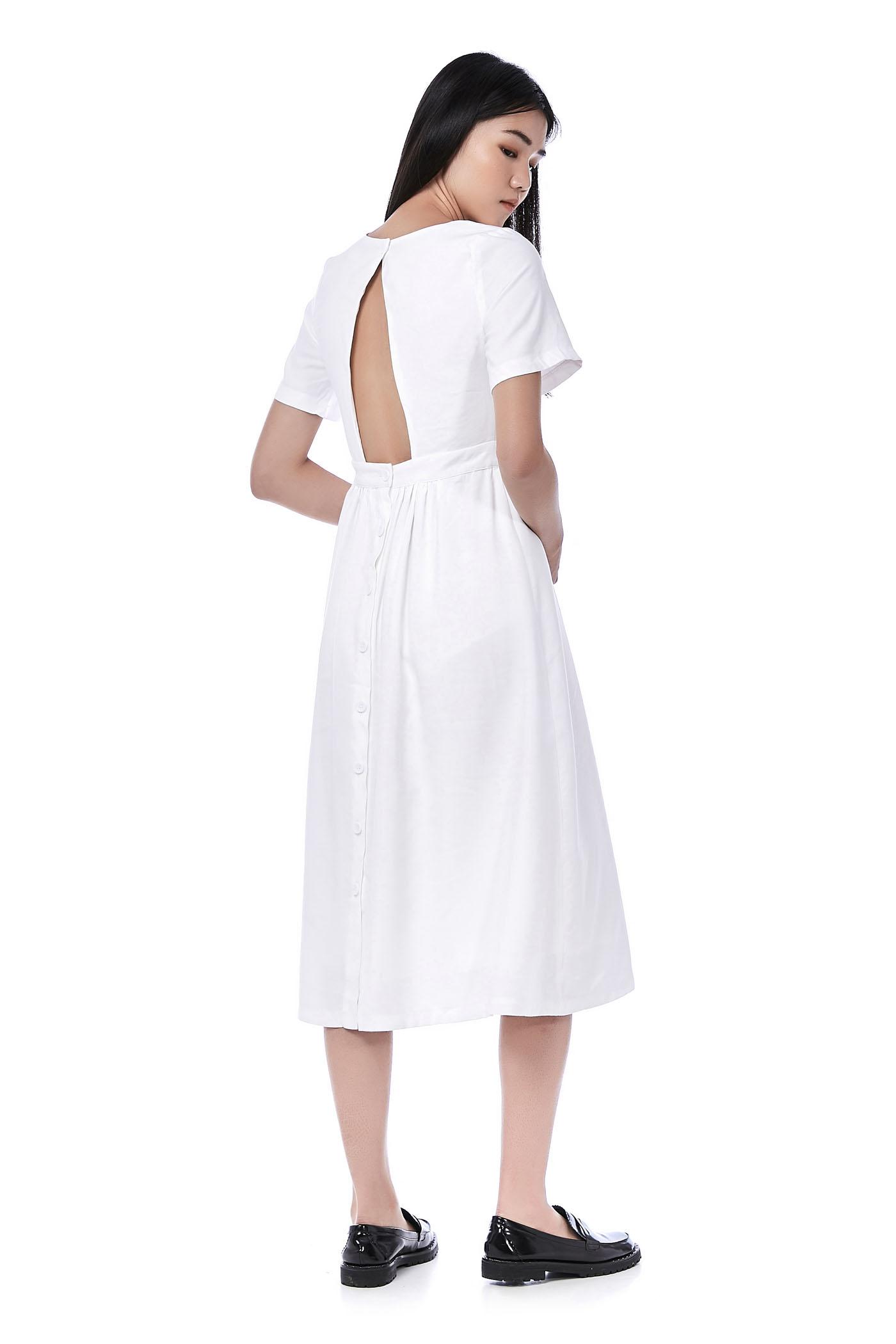 Lennon Open-Back Dress
