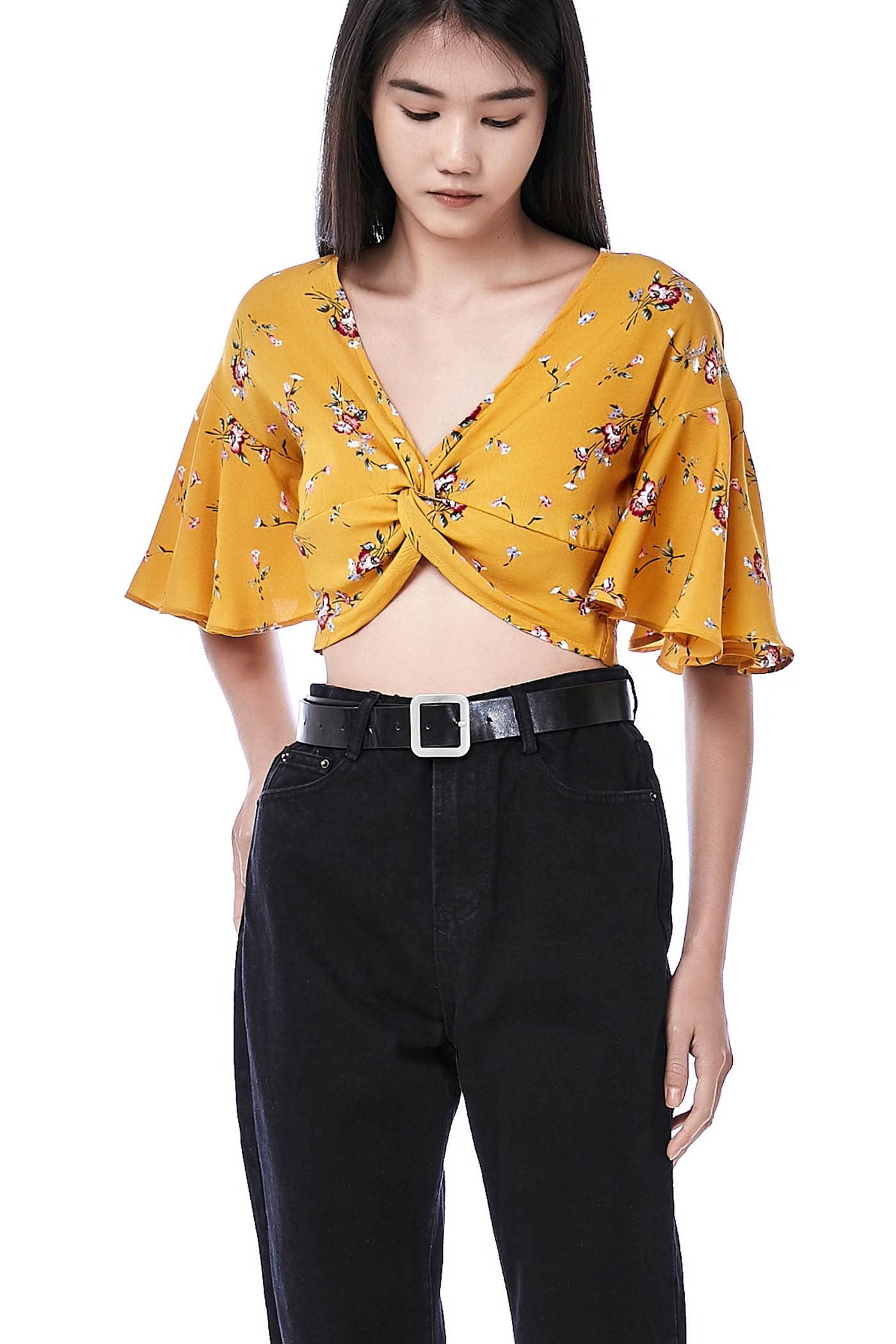 Eviy Knotted Crop Top
