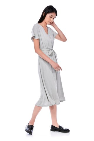 Camy Gathered-Waist Dress