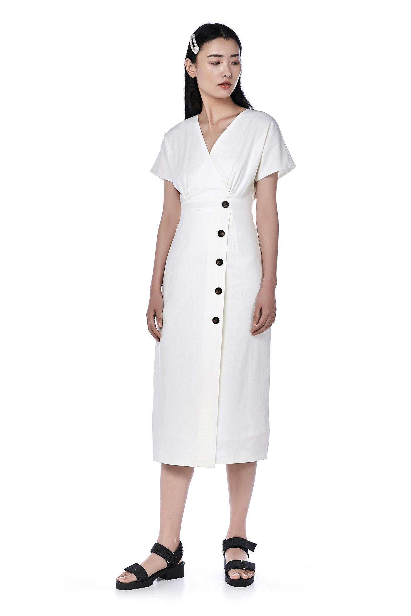 Poeny Overlap Dress