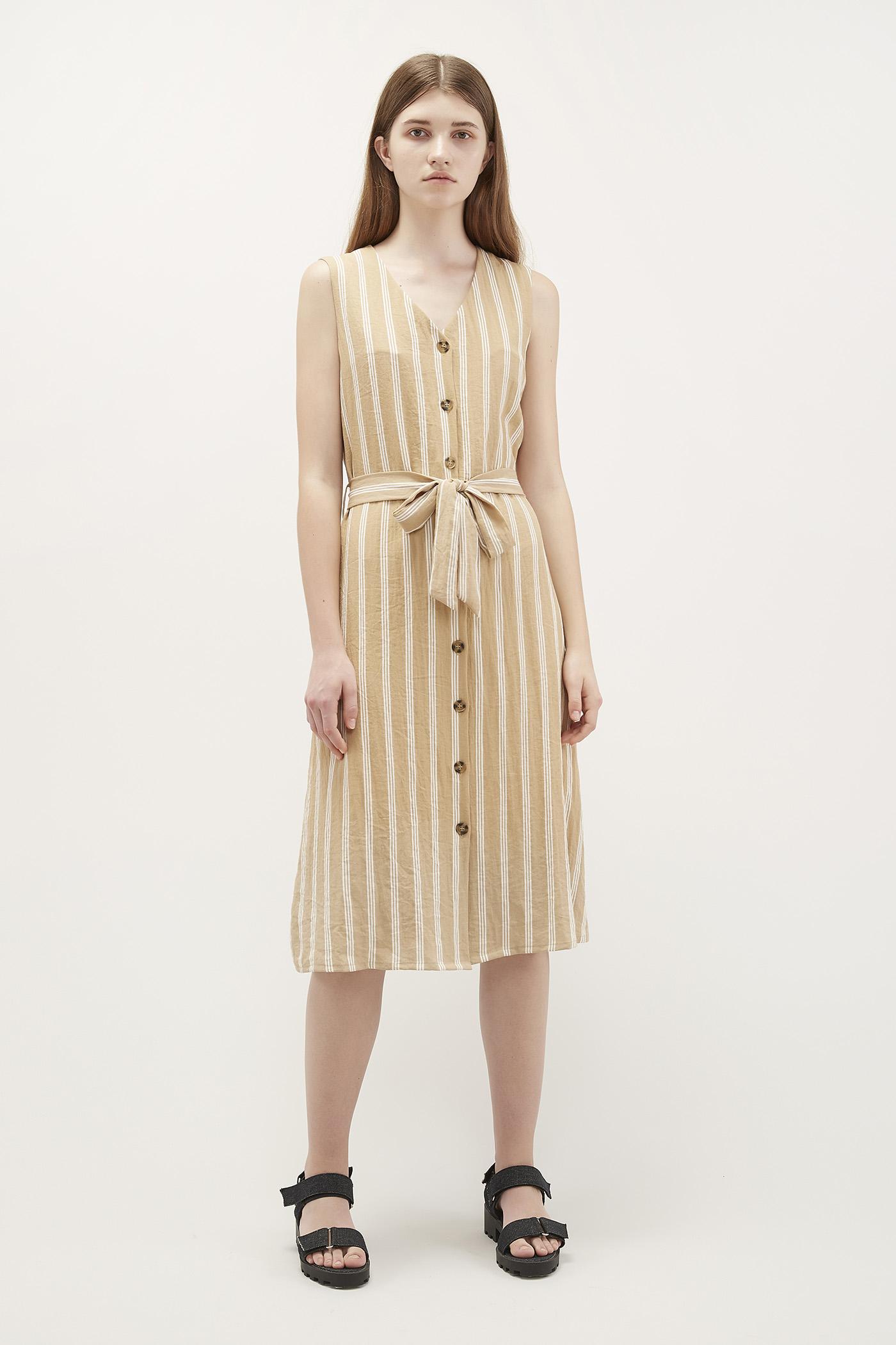 Idina Button-Through Dress