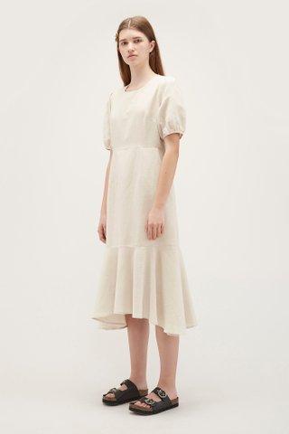 Louisa Wave-Hem Dress