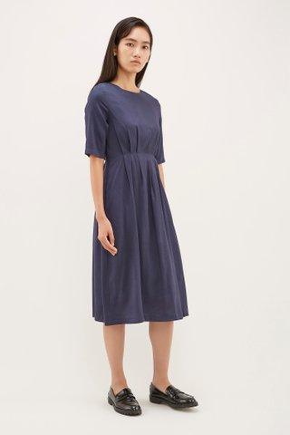 Aara Tuck-Seam Dress
