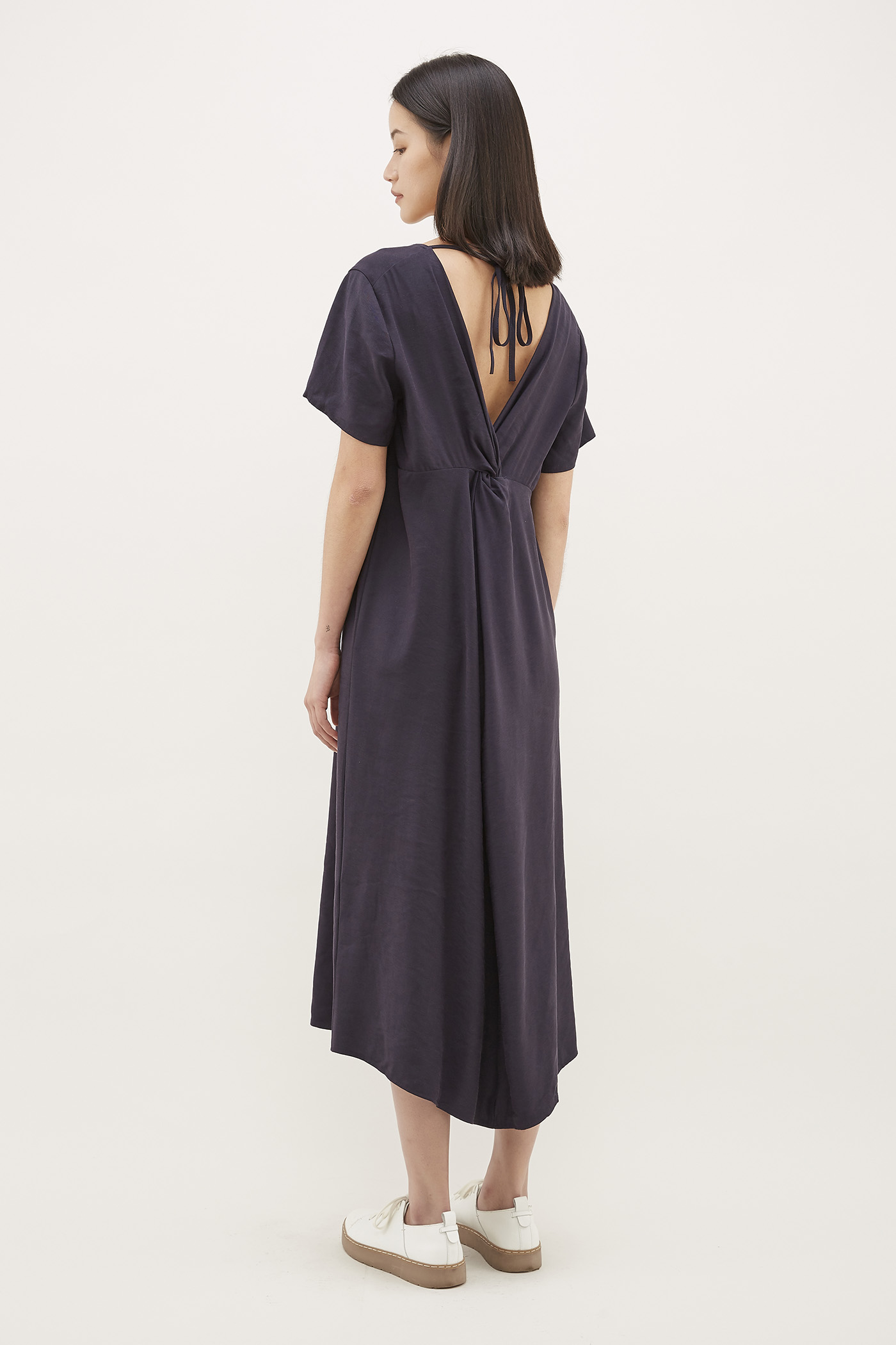 Kase Twist-Back Dress