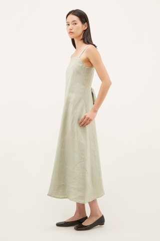 Krasia Square-neck Maxi Dress