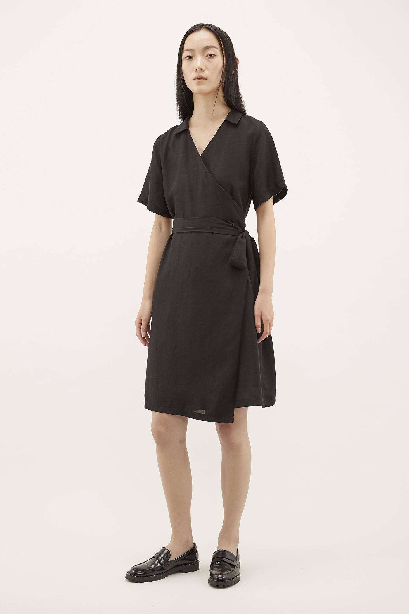 Jarita Collared Wrap Dress