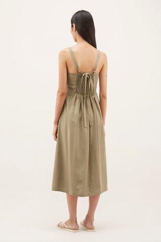 Ophelie Square-neck Dress