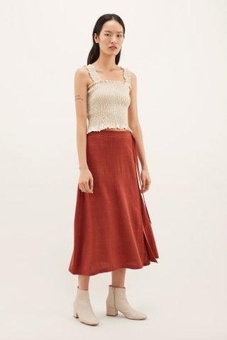 Sylvana Belted Wrap Skirt