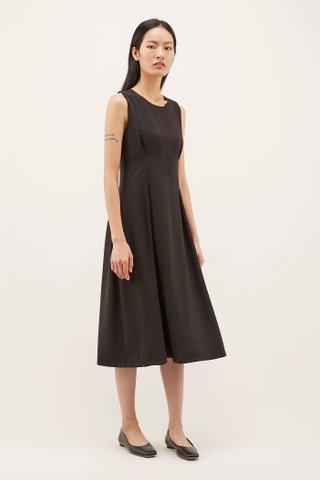 Meryan Tuck-seam Midi Dress