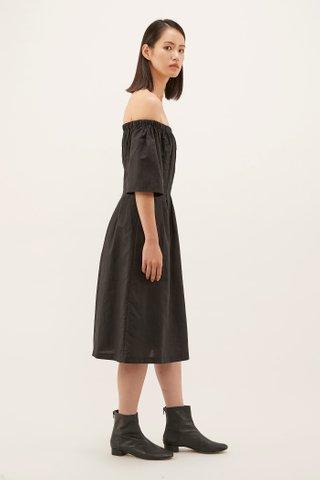 Alvera Pleat-waist Dress