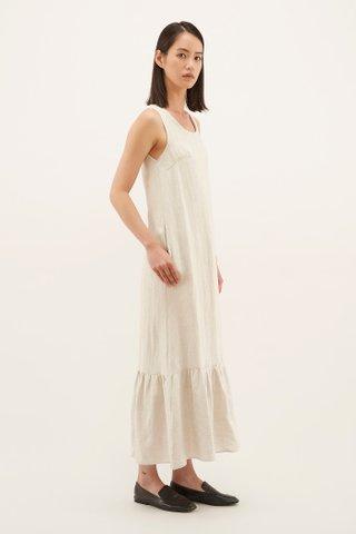 Claudine Gathered-hem Dress
