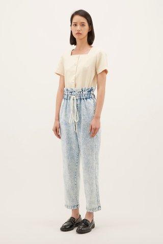 Darena Gathered-Waist Jeans