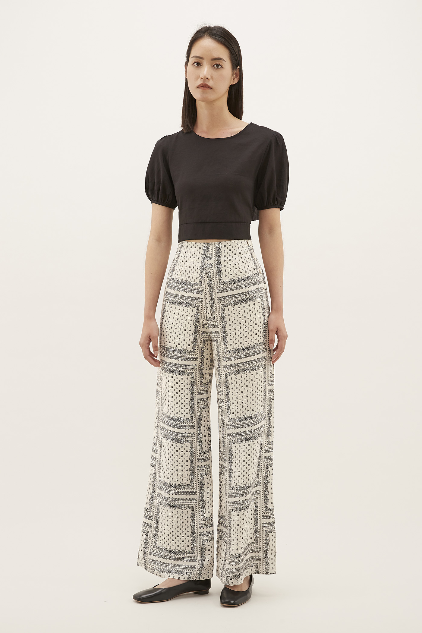 Rinah Side-button Pants