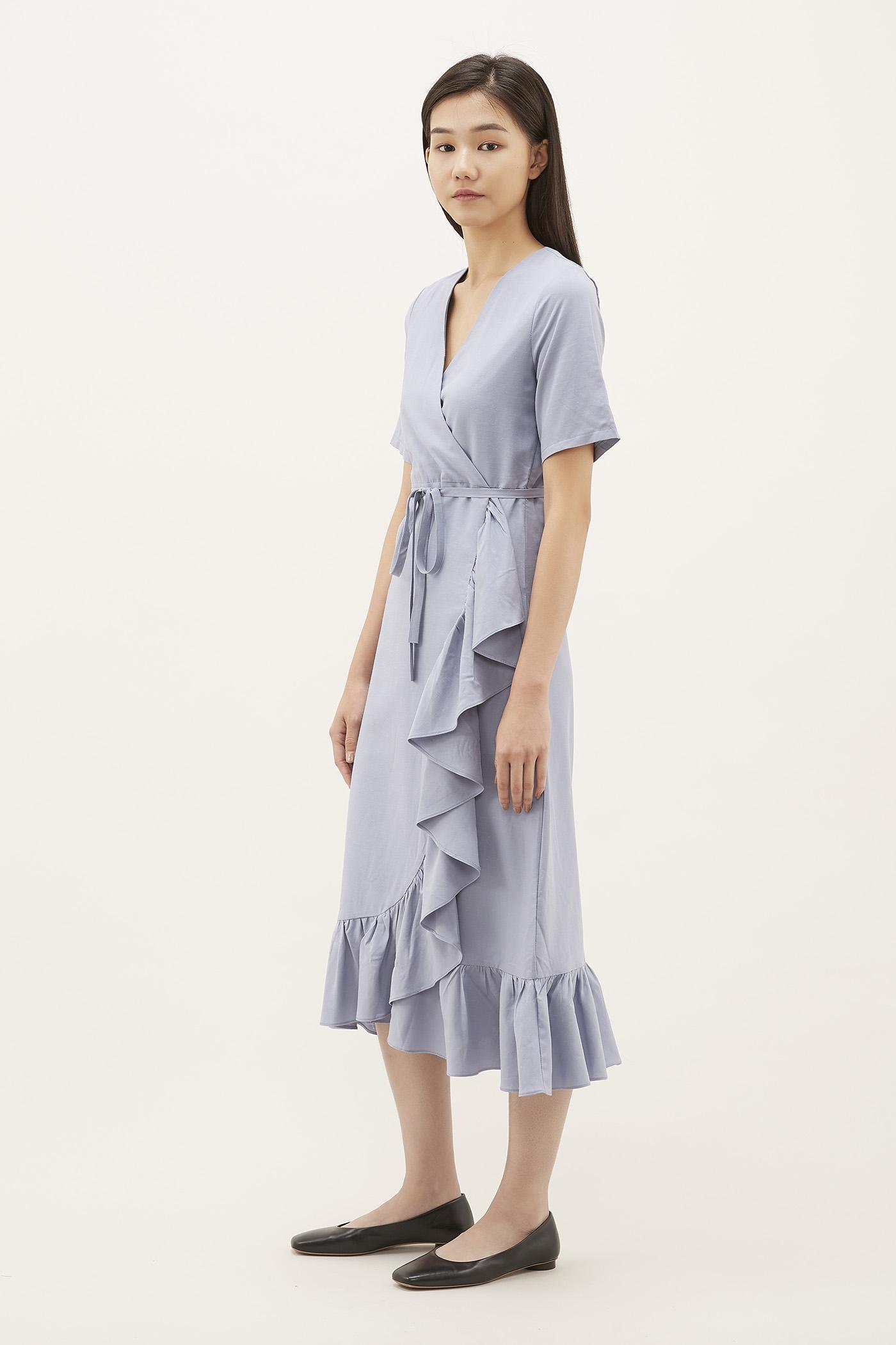 Rebecca Ruffle-trim Dress