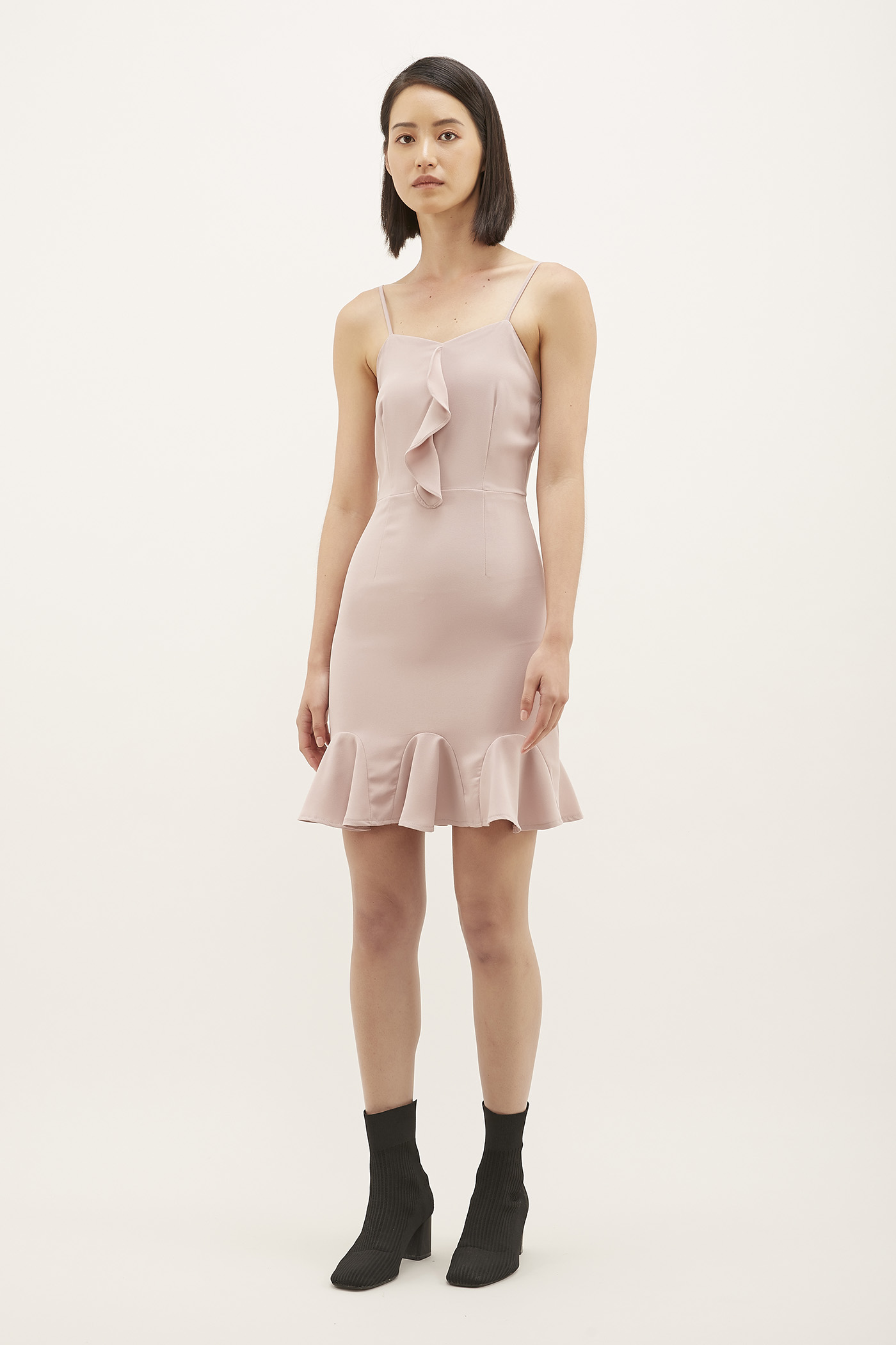 Ryanne Ruffle-hem Mini Dress