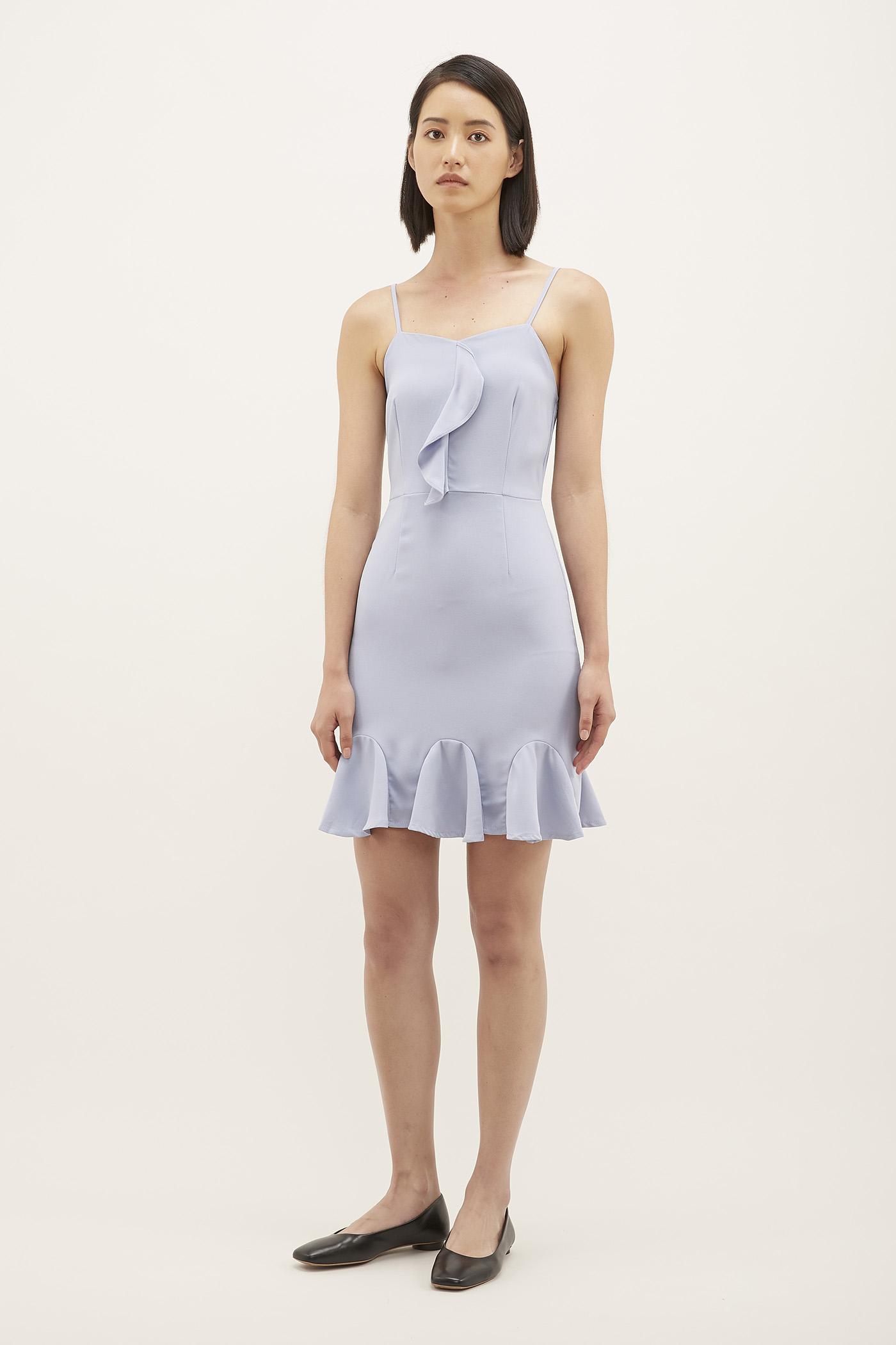 Ryanne Ruffle-hem Mini Dress