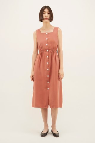 Regena Square-neck Dress