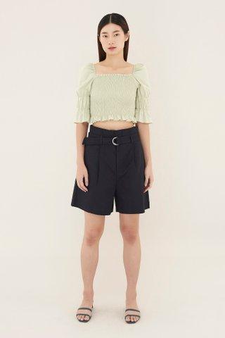 Neha Belted Shorts