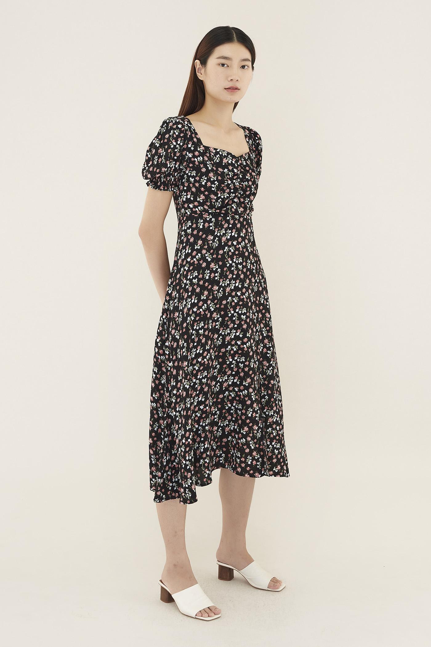 Elynna Puff-sleeve Maxi Dress
