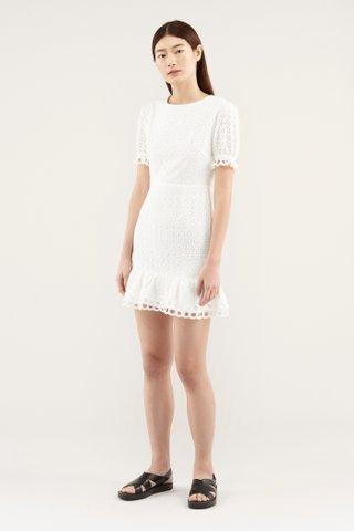 Yulene Broderie Dress