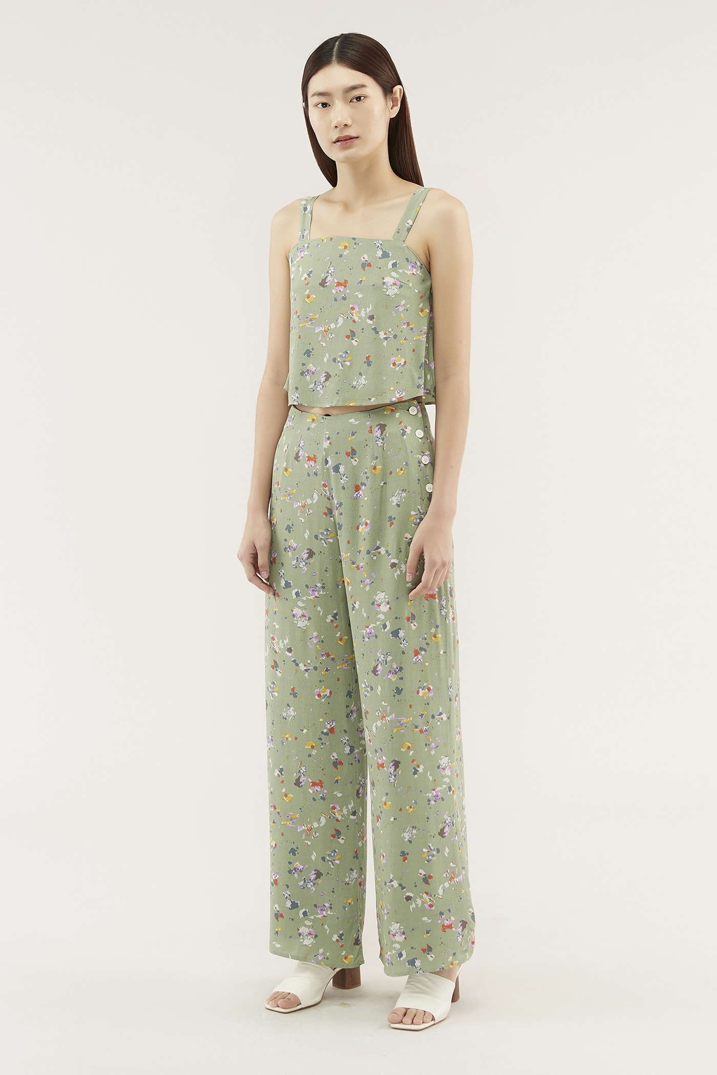 Caryl Side-button Pants