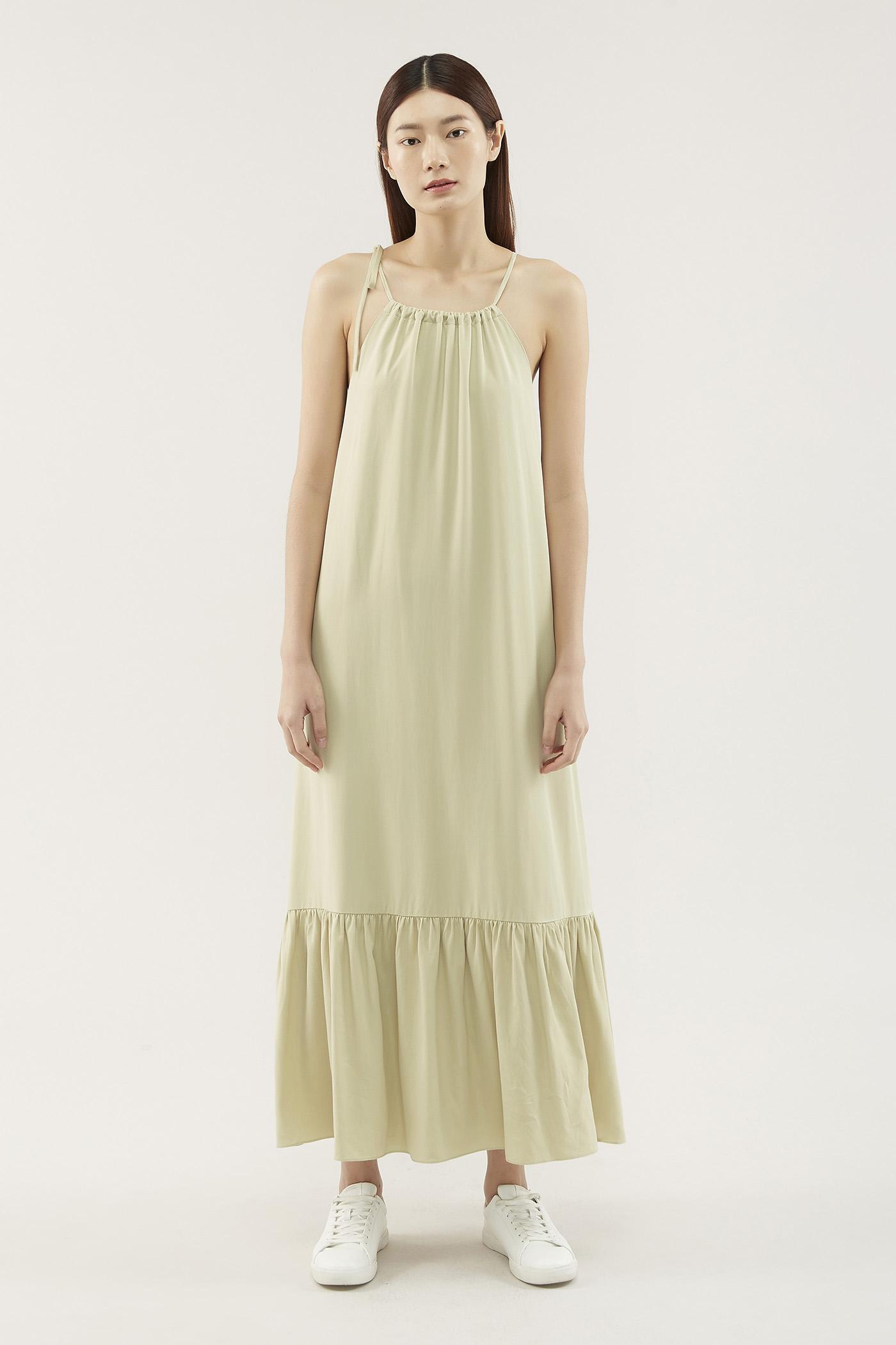 Jynette Gathered-neckline Dress